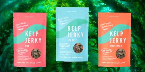 Kelp-Based Jerky Snacks - 'Beyond the Shoreline' Makes Plant-Based Jerky from Seaweed