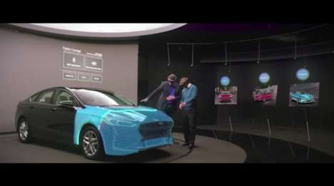 Holographic Car Design Tools - Ford is Now Using Microsoft's HoloLens for Its Design Center