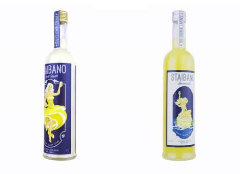 Amalfi Lemon Liqueurs - The 'Amalfi Smooth' Lemon Liqueur from Staibano Boasts Notes of Almond