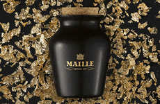 Truffle-Infused Artisan Mustards - The Maille Black Truffle and Chablis Mustard is Elegantly Upscale