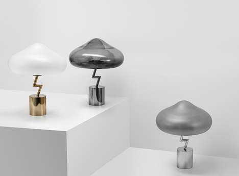 Lightning Bolt-Inspired Lamps