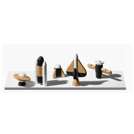 Interstellar Beech Wood Toys - The Cosmos Magnetic Wooden Blocks are Stylish and Modern