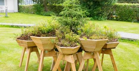 Modular Backyard Planters - Meiluisa's 'Bilberry Pads' Help Make Nature More Accessible