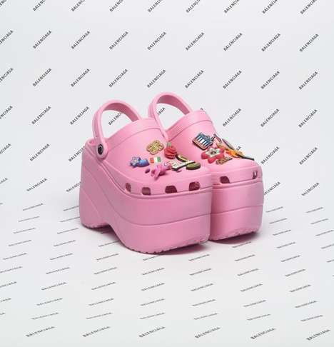Remixed Designer Clogs - The Balenciaga x Crocs Collaboration Debuted at Paris Fashion Week