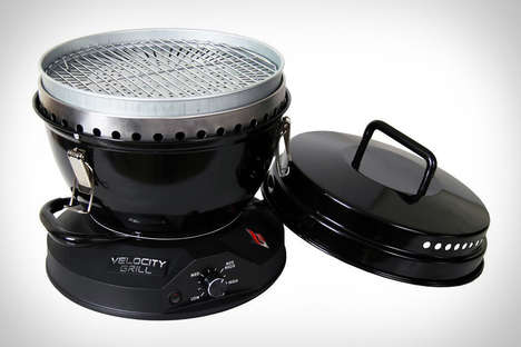 Fan-Fueled Backyard Barbecues - The Velocity Grill Offers the Taste of Charcoal with Gas Control