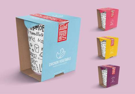 High-End Graffiti Noodle Branding - These Instant Cup Noodles are Exceptionally Branded