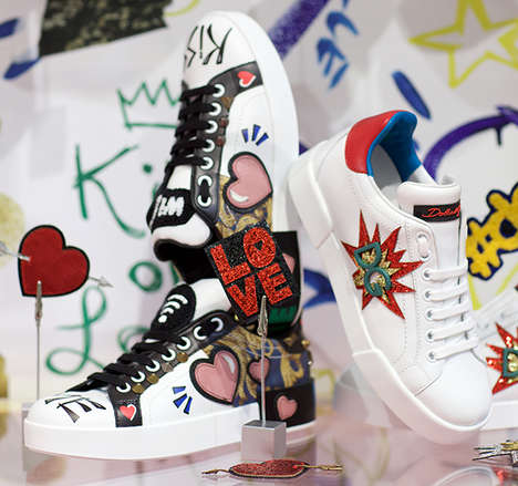 Customizable Designer Sneakers - Dolce & Gabbana Dubai Now Offers a Sneaker Customization Service