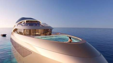 Opulent Superyacht Concepts - The Se77antasette Yacht Concept Imagines Hyper-Luxury On The Open Seas