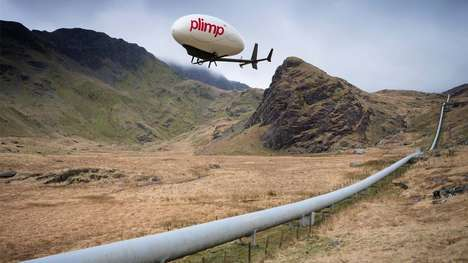 Buoyant Blimp Hybrid Aircraft - The 'Plimp' Borrows Blimp and Unmanned Drone Functionality