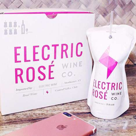 Plastic-Packaged Rosé Wines