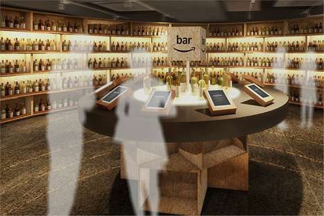 Alcohol eCommerce Bars - The Amazon Bar Promotes Alcoholic Drinks Available Through Amazon