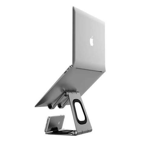 Lightweight Mobile Office Stands - The Hiraliy CH019 Aluminum Portable Laptop Stands are Ergonomic