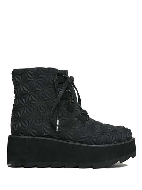 Tire-Themed Combat Boots - YRU's 'ASPEN 4D Boot' Features a Rubber Treading Upper