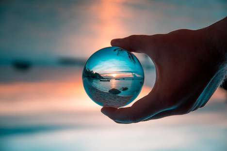 The 'Lensball' Spherical Glass Lens Captures Ethereal Photos