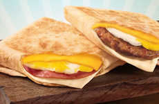 Low-Cost Folded Breakfast Sandwiches - The New Jack in the Box Breakfast Pockets are Easy to Enjoy