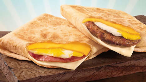 Low-Cost Folded Breakfast Sandwiches