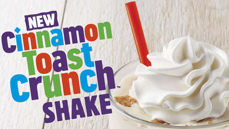 Blended Cinnamon Cereal Shakes