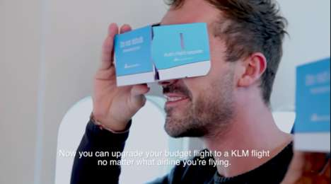Flight-Upgrading VR Headsets - KLM Airline Gave Virtual Reality Headsets to Budget Airline Travelers