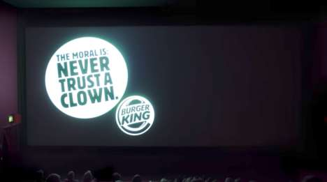 Feature Film Burger Ads - Burger King's Movie Theater Ad Played Directly After Steven King's 'It'