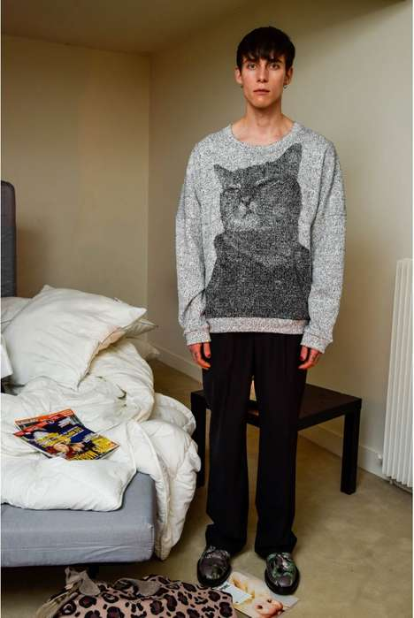 Jacquard Feline Streetwear - Julian Zigerli's Newest Collection Includes Statement Cat Sweaters