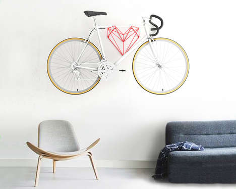 Heart-Shaped Bike Holders - Urban Cyclists Absolutely Adore This Convenient Indoor Bike Hanger