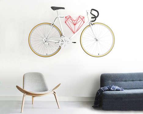 Heart-Shaped Bike Holders