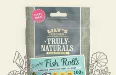 Fish Skin Dog Snacks - The 'Truly Naturals Crunchy Fish Rolls' from Lily's Kitchen Remove Tartar