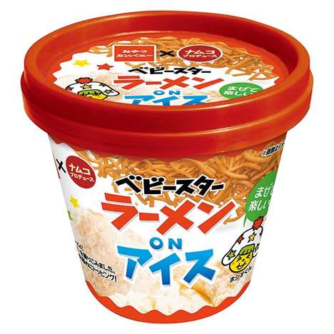 Ramen Ice Cream Pints - Namco's 'Baby Star on Ice' Features Baby Star Noodles Mixed into Ice Cream