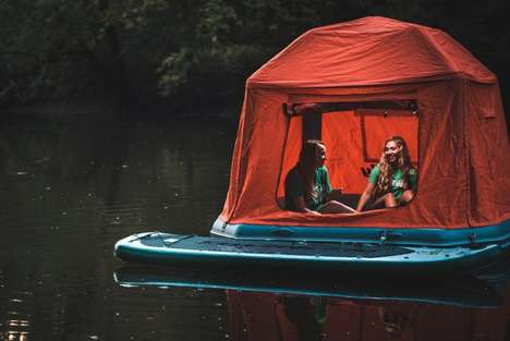 Floating Tent Rafts - The 'Shoal Tent' Enables Campers to Sleep on the Water