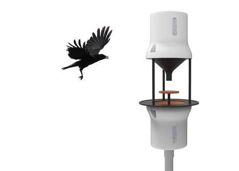 Bird-Based City Cleaning Initiatives - The 'Crow Bar' Teaches Crows to Clean Up Cigarette Butts
