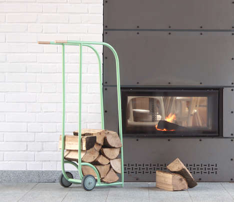 Elegant Log-Carrying Carts - The 'Logger' Makes for an Easy Transport to and from the Fireplace
