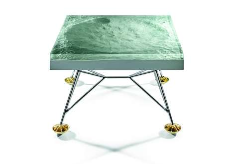 Retro Moon Landing Tables - The Apollo 11 Table by Harold Sangouard is Inspired by the Spacecraft