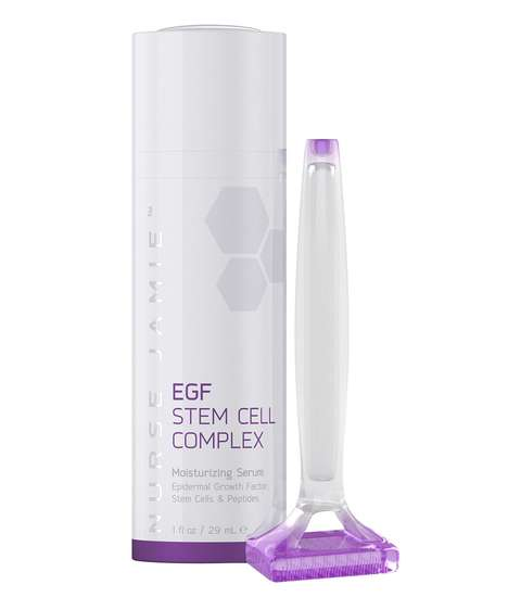 Stamp-Integrated Serum Systems - Nurse Jamie's EGF Age Delay System Includes a 'Beauty Stamp' Tool