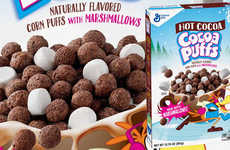 Hot Chocolate Breakfast Cereals - The Hot Cocoa Cocoa Puffs Have Corn Puffs and Marshmallows