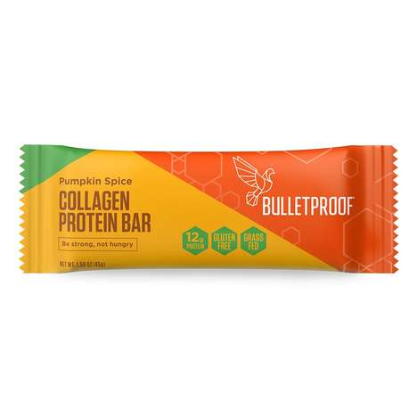 Spiced Pumpkin Protein Bars - Bulletproof's Collagen Protein Bar Now Comes in a Seasonal Flavor