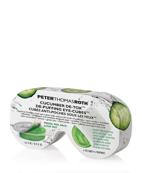 Cucumber-Inspired Eye Treatments - The 'De-Puffing Eye-Cubes' Were Inspired by Cucumber Slices