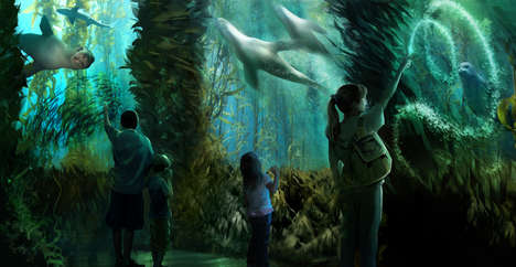 Fishless Aquarium Attractions - National Geographic's Encounter: Ocean Odyssey is Cruelty-Free