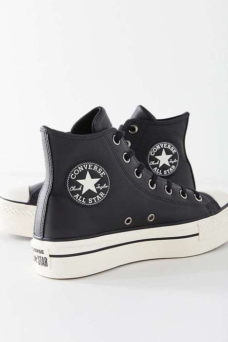 Leather Platform Sneakers - These Platform Chuck Taylor All Star's Elicit Elegance and Nostalgia