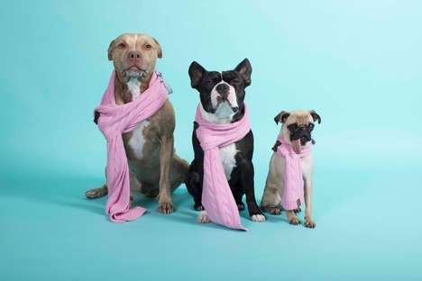 Premium Canine Scarves - 'Bundle-pup' Helps Keep Furry Friends Warm and Stylish