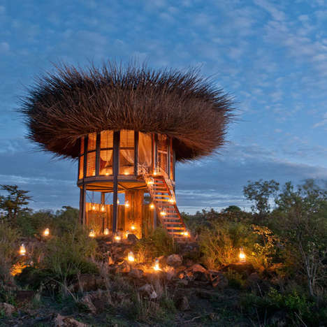 Elevated Bird Nest Retreats - The Birds Nest Villa Offers Incredible Views of Kenya's Wilderness