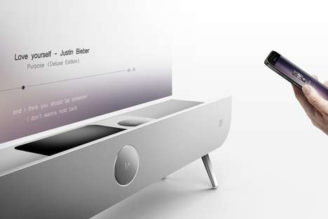 Projector-Embedded Speakers - The 'Sound.B' Speaker Projector is Streamlined and Futuristic