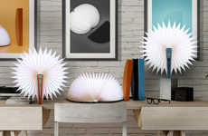 Accordion Accent Lamps - The ModernDek Notepad Lamps Unfold to Reveal an Expandable Design