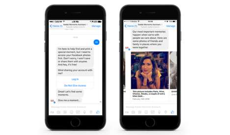 Photo-Choosing Chatbots - 'Kodak Moments' is a Chatbot on Messenger That Suggests Photos to Print