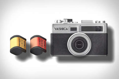 Adjustable Digital Cartridge Cameras - The YASHICA Y35 Digifilm Camera Provides an Analog Experience