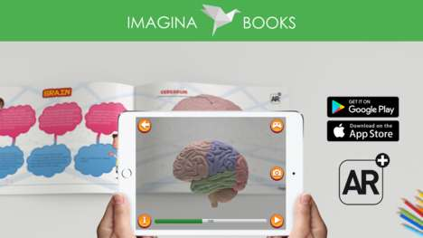 AR Biology Books - 'Imagina Books' are Augmented Reality Books That Come to Life with an App