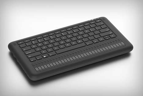 Visual Impairment Keyboards - The 'Braille Book' Keyboard is Texturally Enhanced for Simple Use