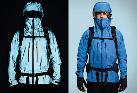 Total Reflection Adventure Jackets - The Vollebak Blue Morpho Jacket is Completely Reflective