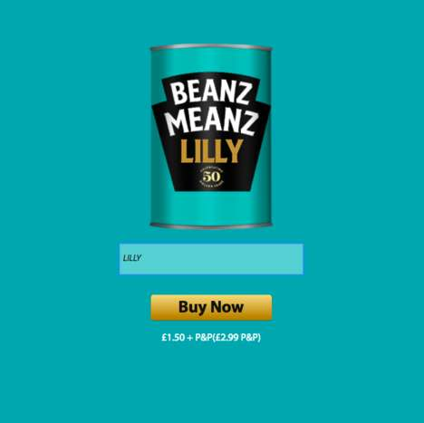 Personalized Bean Cans - For Its Slogan's 50th Anniversary, Heinz is Offering Customized Cans