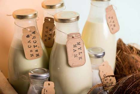 Dairy-Free Milk Deliveries - 'Mylkman' Delivers Plant-Based Alternatives in Reusable Glass Bottles