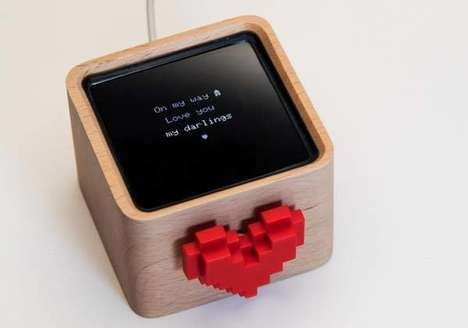 Digital Message Boxes - Lovebox is a WiFi-enabled Box for Sending Heartfelt Messages